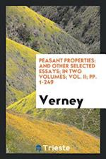 Peasant Properties: And Other Selected Essays; In Two Volumes; Vol. II; pp. 1-249 af Verney