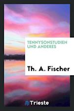 Tennysonstudien und Anderes