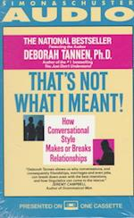 Thats Not What I Meant! af Author, Deborah Tannen