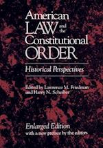 American Law and the Constitutional Order