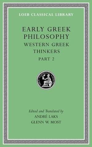 Early Greek Philosophy, Volume V