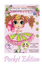Sherri Baldy My-Besties Ella Bella Buttons and Bows Coloring Book Pocket Edition