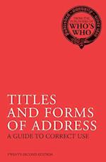 Titles and Forms of Address