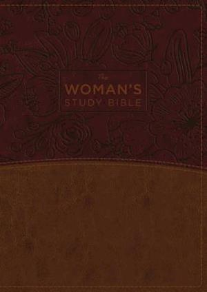 The NKJV, Woman's Study Bible, Leathersoft, Brown/Burgundy, Full-Color, Red Letter, Thumb Indexed