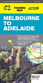 Melbourne to Adelaide Map 345 2nd ed af UBD Gregorys