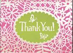 Flower Lace Glitz Thank You Notes