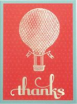 Hot Air Balloon Glitz Thank You Notes