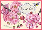 Cherry Blossom Garden Parcel Thank You Notes