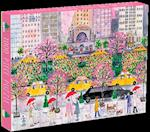 Michael Storrings Spring on Park Avenue 1000 Piece Puzzle af Galison Mudpuppy