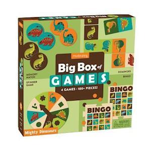 Bog, ukendt format Mighty Dinosaurs Big Box of Games af Mudpuppy