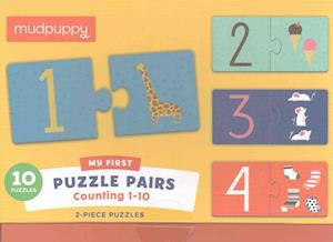 Bog, ukendt format Counting 1-10 My First Puzzle Pairs af Mudpuppy