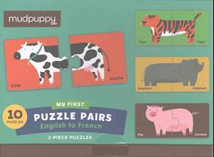 Bog, ukendt format English to French My First Puzzle Pairs af Mudpuppy