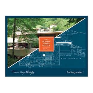 Bog, hardback Frank Lloyd Wright Fallingwater 2-Sided 500 Piece Puzzle af Frank Lloyd Wright