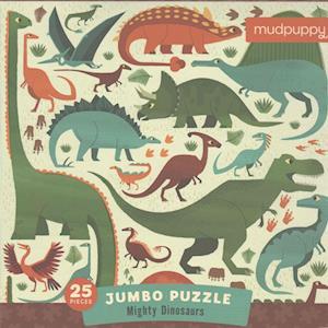 Bog, ukendt format Mighty Dinosaurs Jumbo Puzzle af Mudpuppy