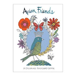 Bog, ukendt format Avian Friends Coloring Postcards af Galison
