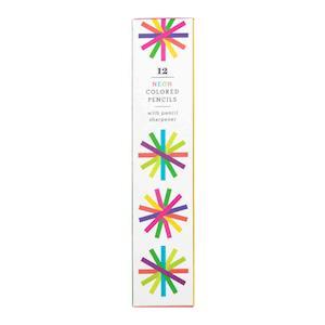 Bog, hardback Neon Colored Pencil Set with Sharpener af Galison Mudpuppy