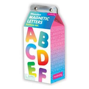 Bog, ukendt format Rainbow ABC Wooden Magnetic Letters af Mudpuppy