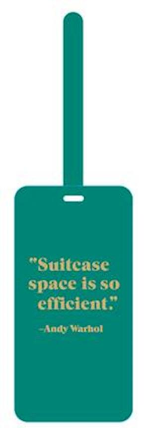 Andy Warhol Quotation Luggage Tag