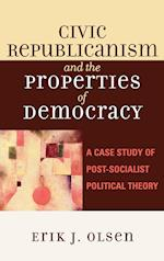 Civic Republicanism and the Properties of Democracy af OLSEN