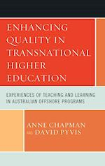Enhancing Quality in Transnational Higher Education af Anne Chapman
