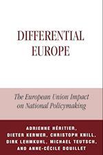 Differential Europe af Dieter Kerwer, Christoph Knill, Anne Ccile Douillet