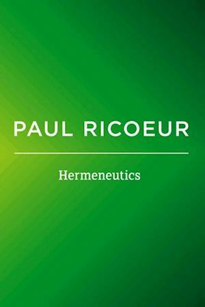 Bog, paperback Hermeneutics af Paul Ricoeur