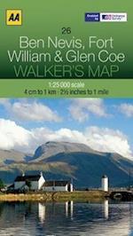 Ben Nevis, Fort William and Glen Coe (Walker's Map, nr. 24)