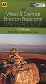 West and Central Brecon Beacons (Walker's Map)