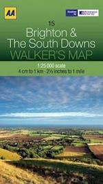 Brighton and The South Downs (Walker's Map, nr. 23)