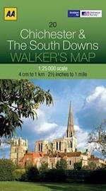 Chichester and The South Downs (Walker's Map)