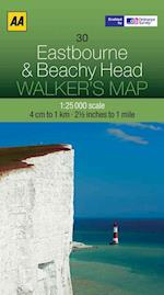 Eastbourne and Beachy Head (Walker's Map)