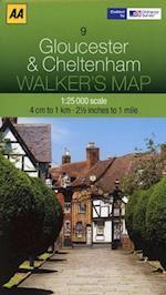 Gloucester and Cheltenham (Walker's Map)