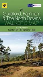 Guildford, Farnham and The North Downs (Walker's Map)