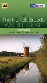 The Norfolk Broads (Walker's Map)