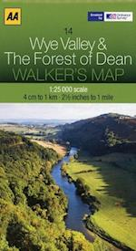 Wye Valley and The Forest of Dean (Walker's Map)