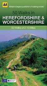 50 Walks in Herefordshire & Worcestershire (AA 50 Walks Series)