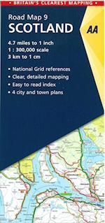 Scotland (AA Road Map Britain, nr. 9)