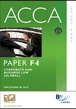 ACCA Paper F4 - Corp and Business Law (GLO) Study Text