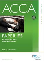 ACCA Paper F5 - Performance Mgt Study Text