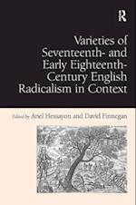 Varieties of Seventeenth-and Early Eighteenth-Century English Radicalism in Context af Ariel Hessayon, David Finnegan