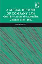 Social History of Company Law