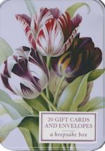 Tin Box of 20 Gift Cards and Envelopes: Redoute Tulip