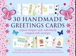 30 Handmade Greetings Cards (Blue/Pink Box) af Peony Press