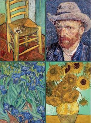 Set of Four Magnetic Notepads: Van Gogh