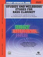Student Instrumental Course Studies and Melodious Etudes for Bass Clarinet