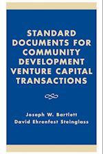 Standard Documents for Community Development Venture Capital Transactions