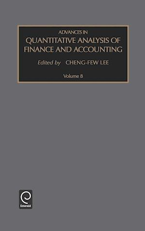 Advances in Quantitative Analysis of Finance and Accounting: Vol 8
