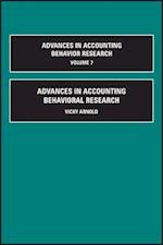 Advances in Accounting Behavioral Research (Advances in Accounting Behavioral Research, nr. 7)
