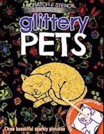 Scratch & Stencil: Glittery Pets