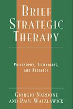 Brief Strategic Therapy af Giorgio Nardone, Paul Watzlawick
